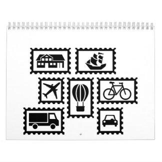 Colección de sello calendarios