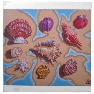Colección de Shell del mar Servilletas De Papel