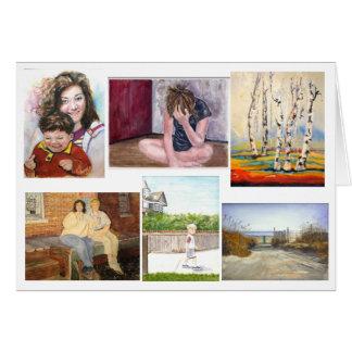 Colección de tarjeta de felicitación de las ilustr