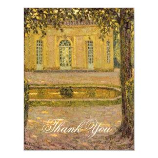 """Colección de Versalles - gracias las tarjetas Invitación 4.25"""" X 5.5"""""""