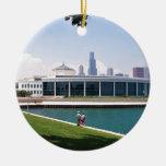 Colección del acuario de Chicago Shedd Adorno Navideño Redondo De Cerámica