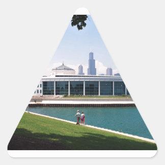 Colección del acuario de Chicago Shedd Pegatina Triangular