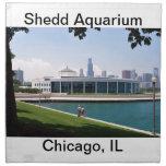 Colección del acuario de Chicago Shedd Servilleta Imprimida