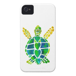 Colección del amor de la tortuga de mar iPhone 4 Case-Mate protectores