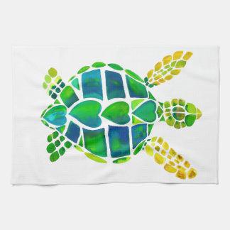 Colección del amor de la tortuga de mar toalla