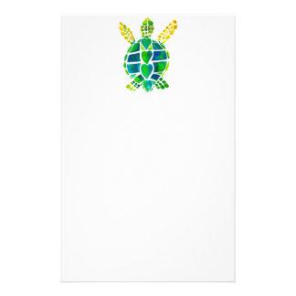 Colección del amor de la tortuga de mar papeleria personalizada