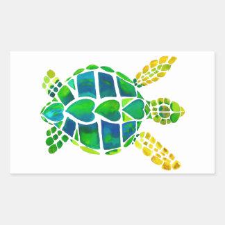 Colección del amor de la tortuga de mar rectangular altavoces