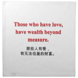 Colección del amor y de la riqueza - servilletas