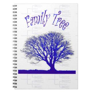 Colección del árbol de familia libros de apuntes con espiral