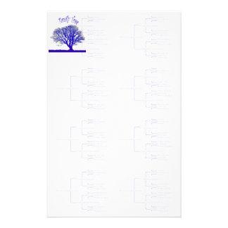 Colección del árbol de familia papelería de diseño