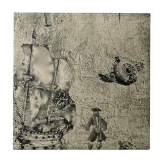 Colección del bandido del tiempo azulejo cuadrado pequeño