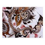 colección del batik no.4 postal