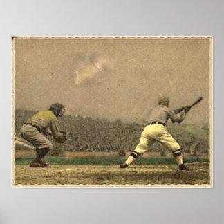 Colección del béisbol del vintage impresiones