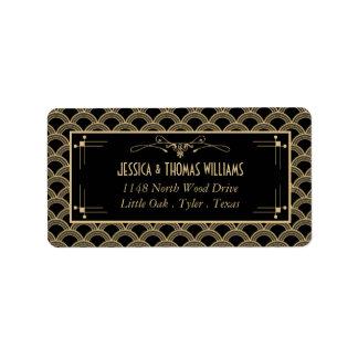 Colección del boda de Gatsby del art déco de los Etiqueta De Dirección