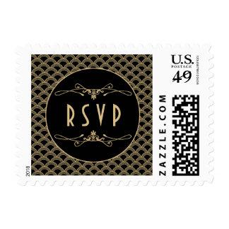 Colección del boda de Gatsby del art déco de los Sellos Postales