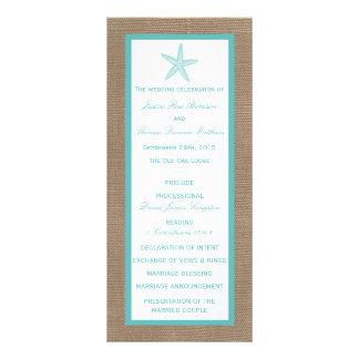 Colección del boda de playa de la arpillera de las lona publicitaria