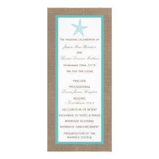 Colección del boda de playa de la arpillera de las plantilla de lona