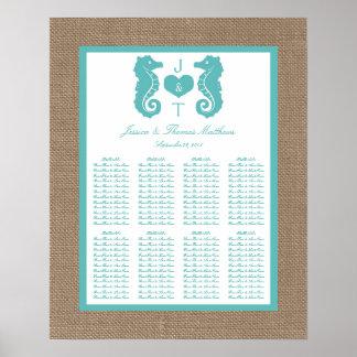Colección del boda de playa de la arpillera de poster
