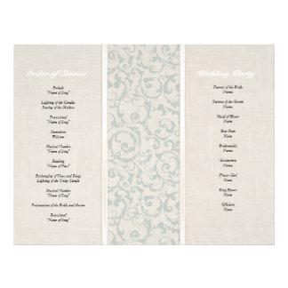 """Colección del boda de SmartElegance SeaSpray Folleto 8.5"""" X 11"""""""