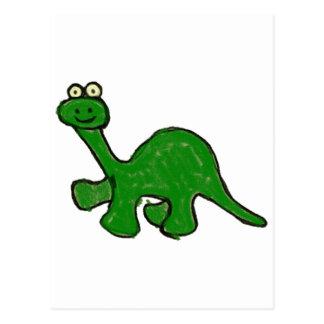 Colección del Brontosaurus del creyón del dibujo a Tarjetas Postales