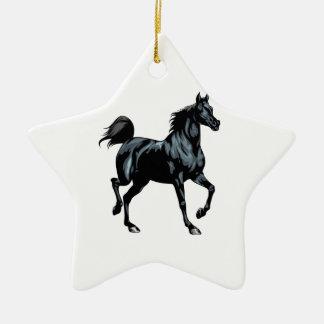 Colección del caballo adorno navideño de cerámica en forma de estrella