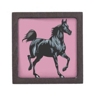 Colección del caballo caja de joyas de calidad