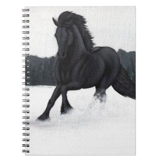 Colección del caballo de la nieve libro de apuntes con espiral