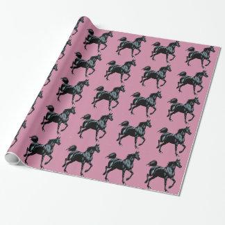 Colección del caballo papel de regalo