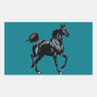 Colección del caballo pegatina rectangular