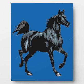 Colección del caballo placa de plastico