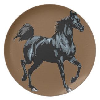 Colección del caballo plato de comida