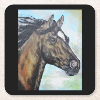 Colección del caballo - práctico de costa de posavasos desechable cuadrado