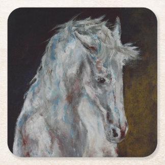 Colección del caballo - práctico de costa posavasos de cartón cuadrado