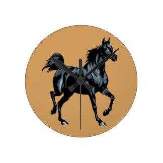 Colección del caballo reloj redondo mediano