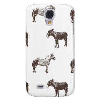 Colección del caballo y del burro de Emma Janeway Funda Para Galaxy S4