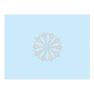 Colección del copo de nieve postales