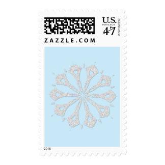 Colección del copo de nieve timbres postales
