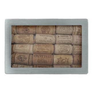 Colección del corcho del vino hebilla de cinturon rectangular