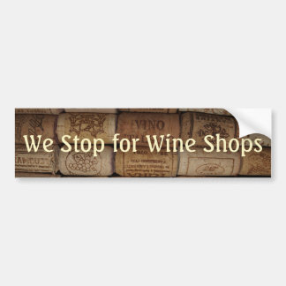 Colección del corcho del vino pegatina para auto