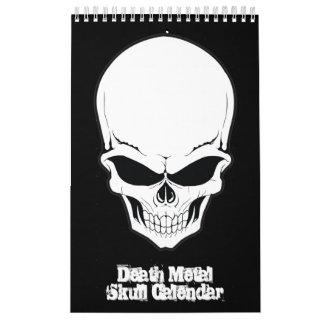 Colección del cráneo del cráneo del metal de la calendario