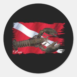 Colección del Critter de la bandera de los buceado Etiquetas