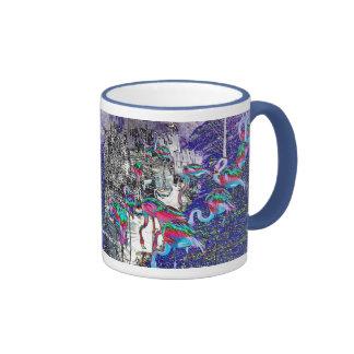 Colección del cromo del flamenco tazas de café
