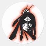 Colección del diseño de SWHS74 IndianLogo Etiqueta Redonda