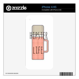Colección del diseño del ejemplo de la vida del skins para iPhone 4