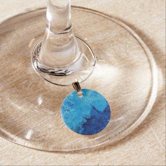 Colección del encanto del vino - extracto azul de identificador de copa