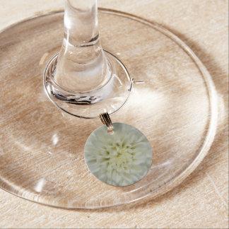 Colección del encanto del vino - flor blanca identificadores de copas