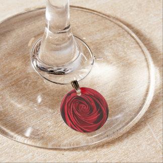 Colección del encanto del vino - rosa rojo identificadores de copas