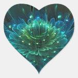 Colección del éxtasis de la flor de Lotus Pegatinas De Corazon Personalizadas
