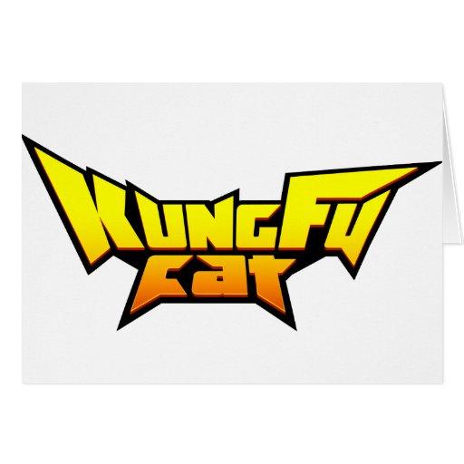 Colección del gato de Kung Fu Felicitacion