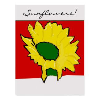 ¡Colección del girasol! Tarjetas Postales
